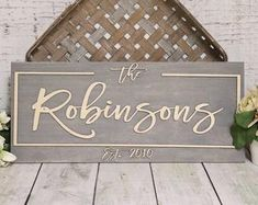 Personalized Wood Signs, Family Name & Wedding Gifts by WoodByStu