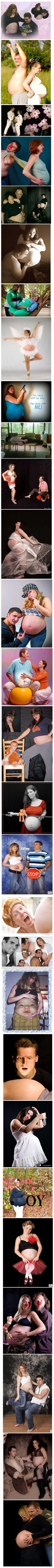 Totally awkward pregnancy photos… this inspires me to do some of these when I'm preggers... just for a laugh.