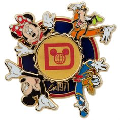 Mickey Mouse and Friends Spinner Pin - Walt Disney World | Pins (Individual) | Disney Store