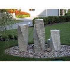 Záhradné fontána z betónu - 3 bary, domáce dekoráciu a záhradné obchode…