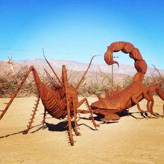 Borrego Springs, CA.  Metal sculptures in the desert.