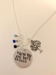 Dear Evan Hansen Inspired Hand-Stamped Necklace