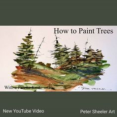 One of two videos posted on YouTube. Trees and landscape with a palette knife.  Link to my YouTube Channel is in my bio or Cut and Paste:  https://m.youtube.com/channel/UCZWYIO-v3dYNkhBjxFEYZ0g  #Video #youtube #youtubers #landscape #art  #original #watercolor #winsorandnewton #watercolour #painting #paintingaday #penandink #waterbrush #urbansketch #urbansketchers #urbansketcher #architecture #ink #moleskine_arts #canada #ontario #barn #farm #countryside #usk #palette #knife