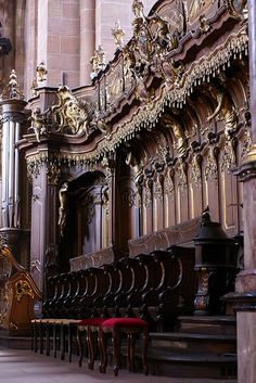 Worms, Dom St. Peter, Chorgestühl (St. Peter's Cathedral, choir stalls)
