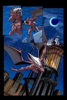 Gargoyles issue 10 page 1 by robbybevard Gargoyles Tv Show, Gargoyles Cartoon, Disney Gargoyles, Arte Disney, Disney Magic, Disney Pixar, Thundercats, Character Art, Character Design