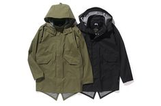 STUSSY GORE-TEX® Products Fishtail Jacket | Olive, Black | ¥58,000+tax