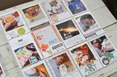 Project Life Week 13 insert using Instagrams + Design U PL page protectors #projectlife #scrapbook
