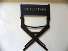 Home Theater Decor Directors Chair Metal Wall Art