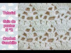 DIY Paso a paso de punto crochet ganchillo calado ( Número N° 2) - YouTube