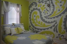 Paisley Wall Mural Choose your own two colors to match your room decor. Crop the giant paisley panels to whatever size you need. Any way you do it, it will give any room that WOW factor you have been