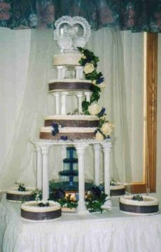 3 tier wedding cakes with pillars   Wedding Cakes - Columns & Pillars