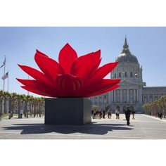Breathing Flower A Giant Kinetic Sculpture Installation of a Lotus... ❤ liked on Polyvore featuring flowers and backgrounds