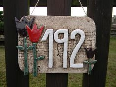 Slab Ceramics, Garden Markers, Air Dry Clay, House Numbers, Pottery Ideas, Home Signs, Wall Plaques, Decoupage, Mosaic