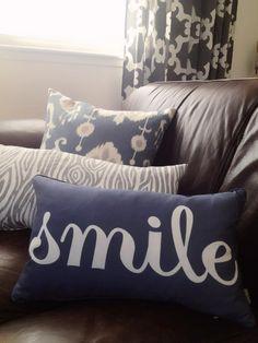 Smile! #DIY #decorating pillow
