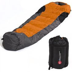 Mummy Sleeping Bag 5F15C Camping Hiking With Carrying Case * See this great product.