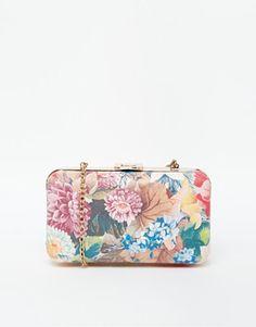 Style London Floral Box Clutch Bag