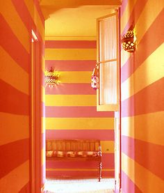 orange and pink stripes
