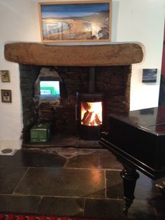 Hwam 3610 Installation #KernowFires #Hwam #fireplace #woodburner #stove #cornwall #installation #freestanding #contemporary
