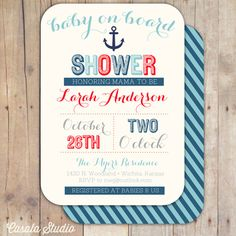 """""""Baby on Board"""" printable for a nautical-themed baby shower"""