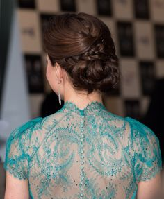 Lovely in lace! Kate Middleton wears sexy lace gown and braided updo