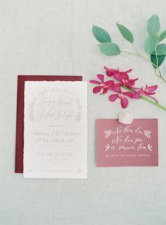red wedding invitation idea; photo: The Great Romance