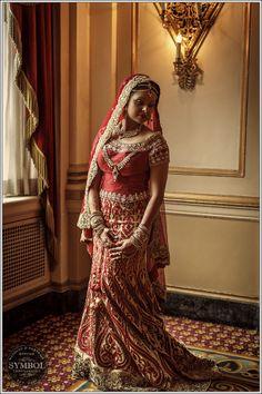 Indian bride, red lehenga, indian wedding #shaadibazaar, #boston @SymbolPhoto Boston Boston contact us for details on this wedding.