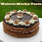 Walnut Mocha Torte - perfect show stopper for a celebration!