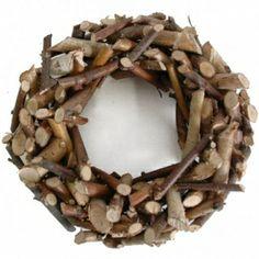 Krans van berkenhout, 45 cm