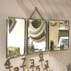 Miroir triptyque chromé