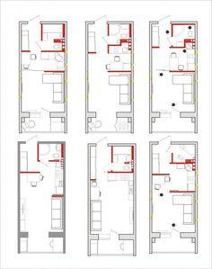 планировка студии 21-30 кв. метров Studio Apartment Layout, Studio Layout, Small Apartment Design, Small Apartments, Tiny House Layout, Tiny House Design, House Layouts, Container House Plans, Container House Design