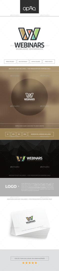 Webinars Logo — Vector EPS #w #webmaster • Available here → https://graphicriver.net/item/webinars-logo/15859105?ref=pxcr