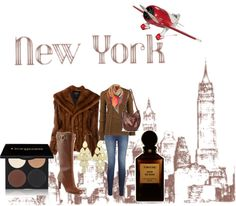 """""""NY"""" by makeuplady ❤ liked on Polyvore"""