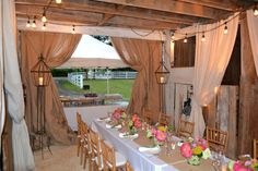 Rustic, Elegant Rehearsal Dinner in an Old Barn: Tablescape