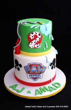 https://flic.kr/p/EdrTLa | Paw Patrol Cake | Customer would add own topper.