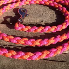 Paracord Round Braid 6 Foot Dog Leash on Etsy, $27.37