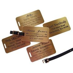 JUMBO Engraved Brass Luggage Tags 2 Customize Live Online *** Learn more by visiting the image link.Note:It is affiliate link to Amazon.