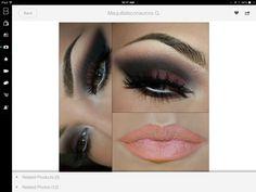 Dark makeup & nude lips