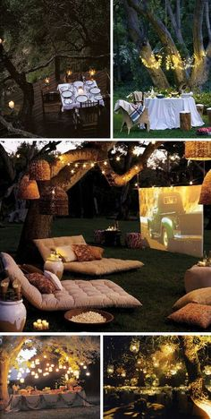 oh yes, exactly my kind of garden, movie night with friends and family and whoodles of popcorn.