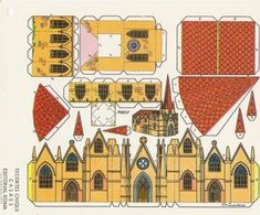 Lots of mini casas and casitas - sylvia - Picasa Web Albums Paper Doll House, Paper Houses, Cardboard Toys, Paper Toys, Paper Structure, House Template, Kirigami, Glitter Houses, Christmas Villages