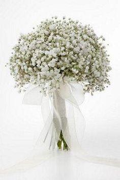ramo de novia blanco babybreath