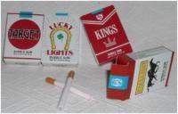 bubble gum cigarettes...puff the sugar out...