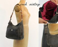 90's Coach Purse / 1990s Leather Coach Bucket Bag by CrushVintage, $78.00
