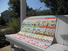 Pink Girl Quilt Handmade custom girl quilt by PeaceofMeQuilts, $130.00