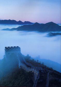 Misty Great Wall - Beijing