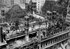 Demolition of C. Vanderbilt's Mansion. Notice the size of the workers!