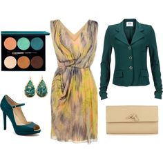 chiffon and turquoise #Polyvore