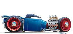 thom taylor car drawings | http://www.hotrodthom.com