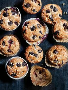For when you are on the go, grab one of these buckwheat and quinoa blueberry muffins. They are a healthier twist on a classic. Strawberry Recipes, Apple Recipes, Baking Recipes, Free Recipes, Granola Muffin Recipe, Buckwheat Muffins, Oat Crumble Topping, Quinoa Cake, Healthy Baking