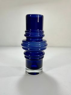 Excited to share this item from my shop: Riihimaki Cobalt Blue Glass Vase Tulppaani / Tulip 1516 Vase designed by Tamara Aladin Vintage 1973 Mid Century Modern Scandinavian Finnish