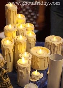 PVC pipe halloween candle props
